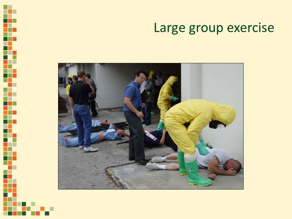 Large group exercise