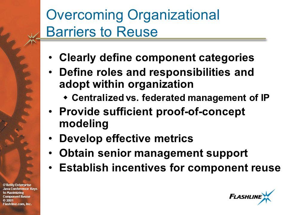 O Reilly Enterprise Java Conference Keys to Maximizing Component Reuse © 2001 Flashline.com, Inc.