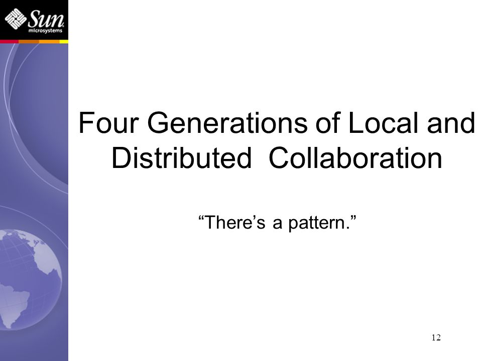 12 Four Generations of Local and Distributed Collaboration Theres a pattern.