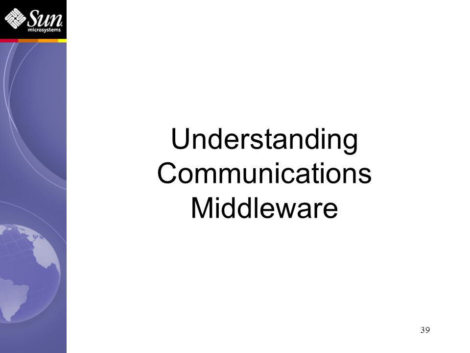 39 Understanding Communications Middleware
