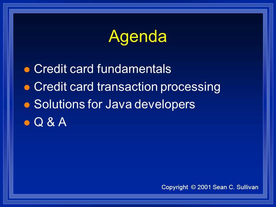 Copyright © 2001 Sean C.Sullivan Development Issues (cont) l How to represent money.