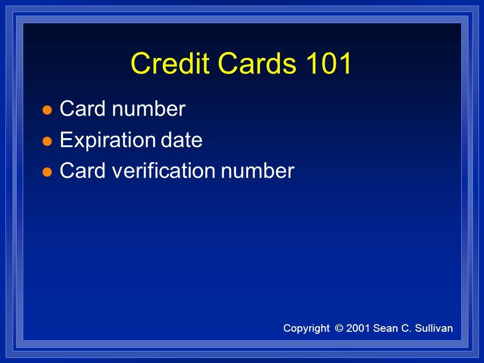 Copyright © 2001 Sean C. Sullivan CyberSource www.cybersource.com l payment service provider