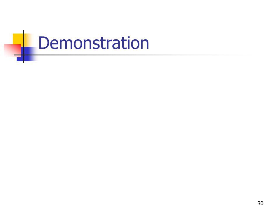 30 Demonstration