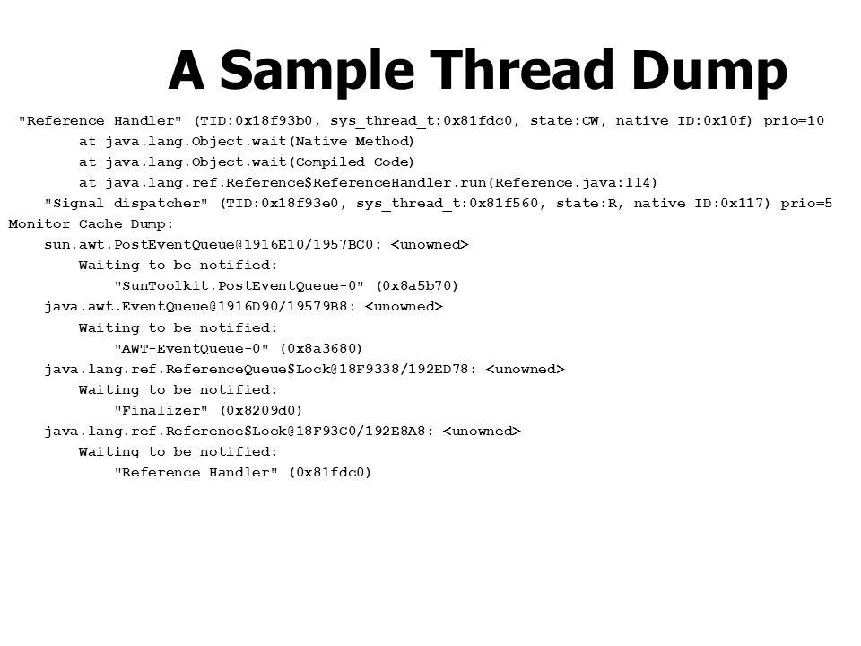A Sample Thread Dump