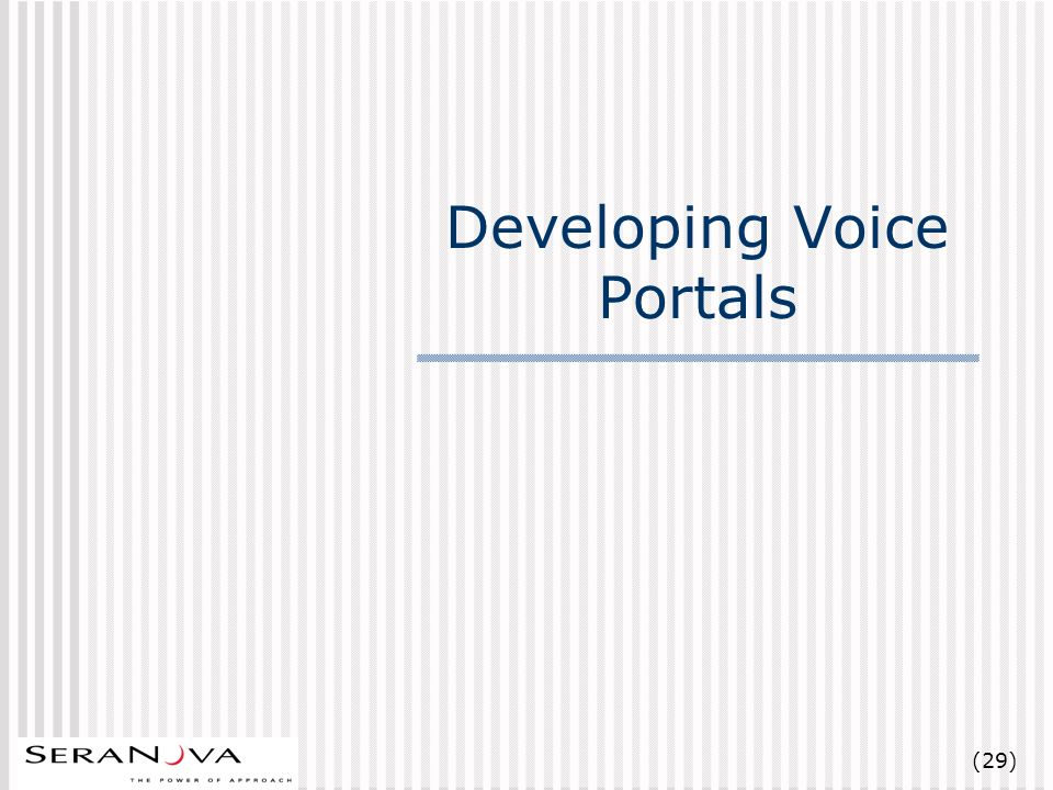 (29) Developing Voice Portals