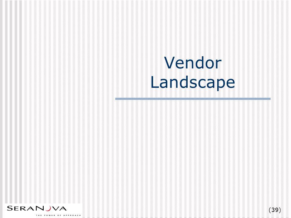 (39) Vendor Landscape