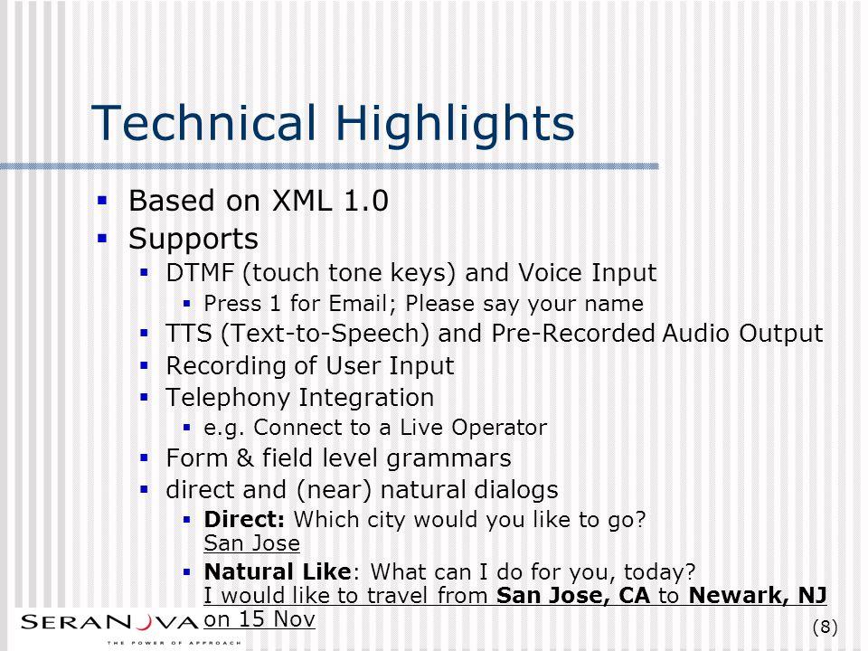 (49) Resources Organizations VoiceXML Forum http://www.voicexml.org http://www.voicexml.org W3C Voice Browser Activity http://www.w3c.org/Voice Specs VoiceXML Specification http://www.voicexml.org/spec.html http://www.voicexml.org/spec.html Java Speech API Grammar Spec (JSGF) http://java.sun.com/products/java- media/speech/forDevelopers/JSGF.pdf http://java.sun.com/products/java- media/speech/forDevelopers/JSGF.pdf