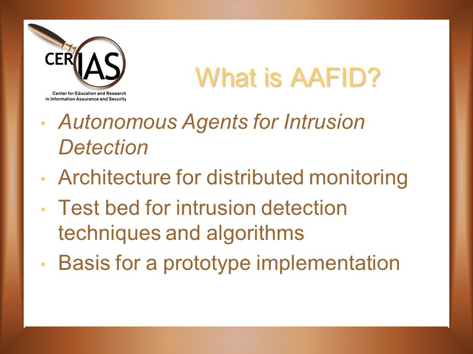 What is AAFID.