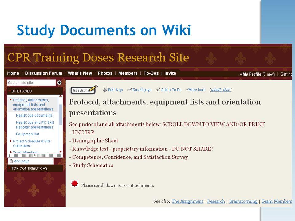 Study Documents on Wiki