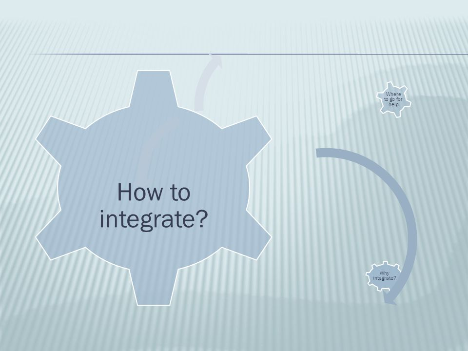 Why integrate? How to integrate? Where to go for help
