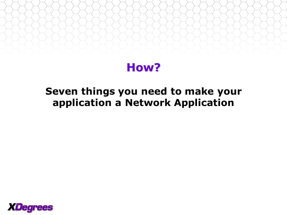 13 Why? Use web applications everywhere Web applications are currently only useful when users are online Network Application seamlessly … –Stores data