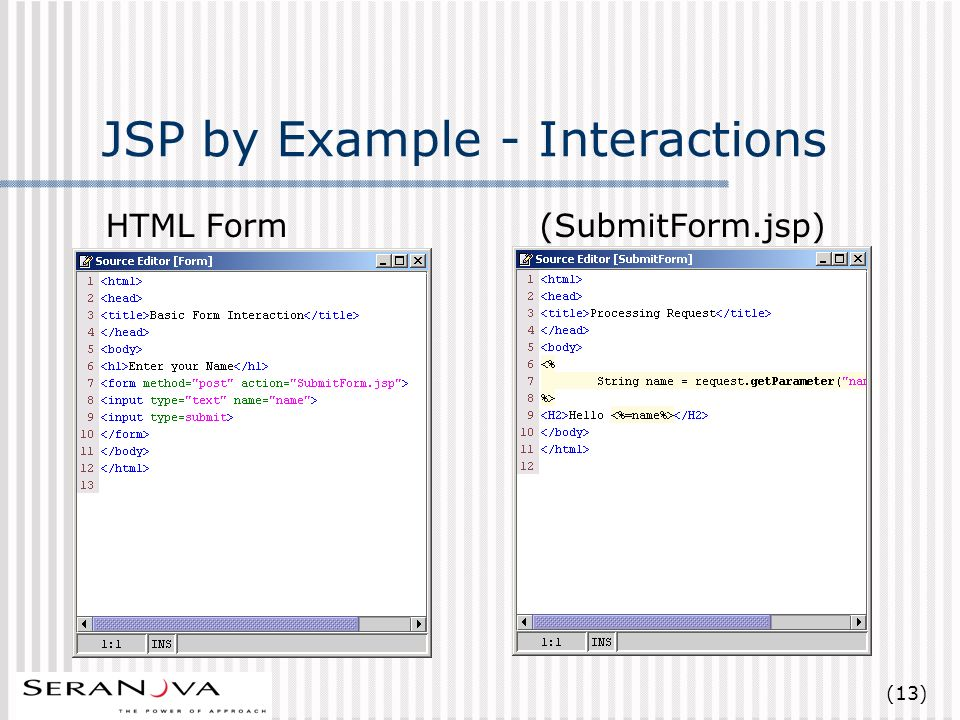 (13) JSP by Example - Interactions HTML Form(SubmitForm.jsp)