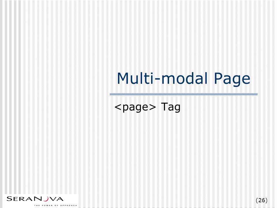 (26) Multi-modal Page Tag