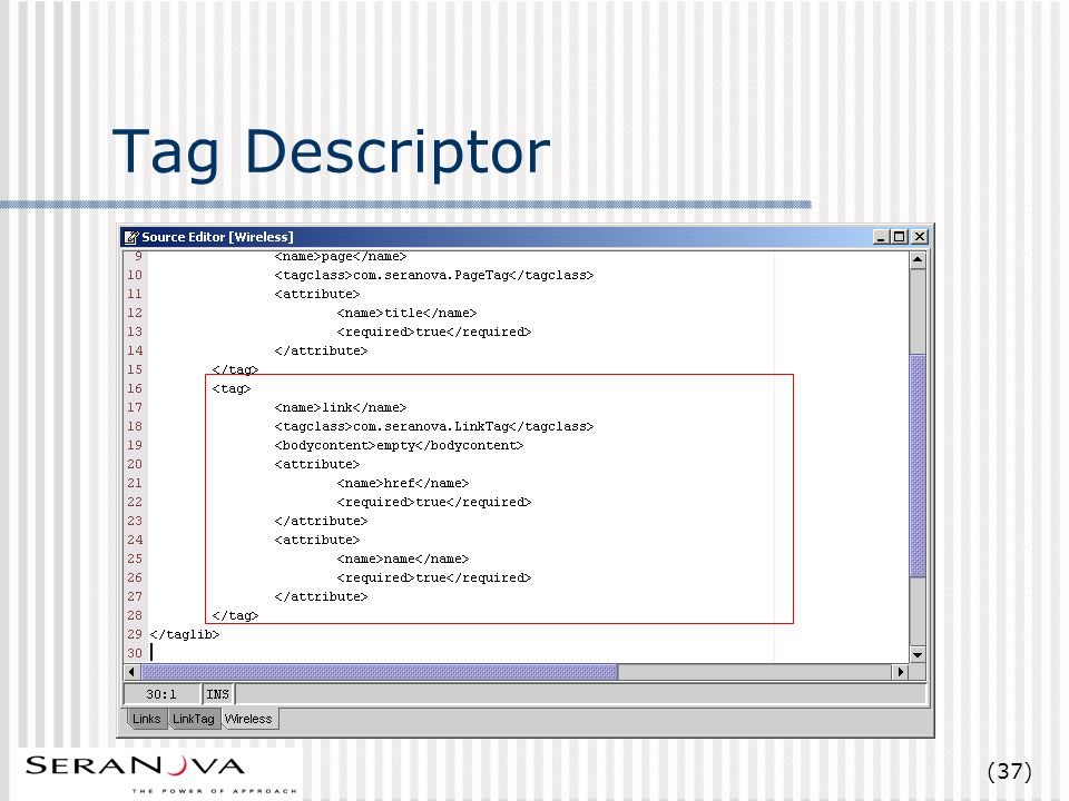 (37) Tag Descriptor