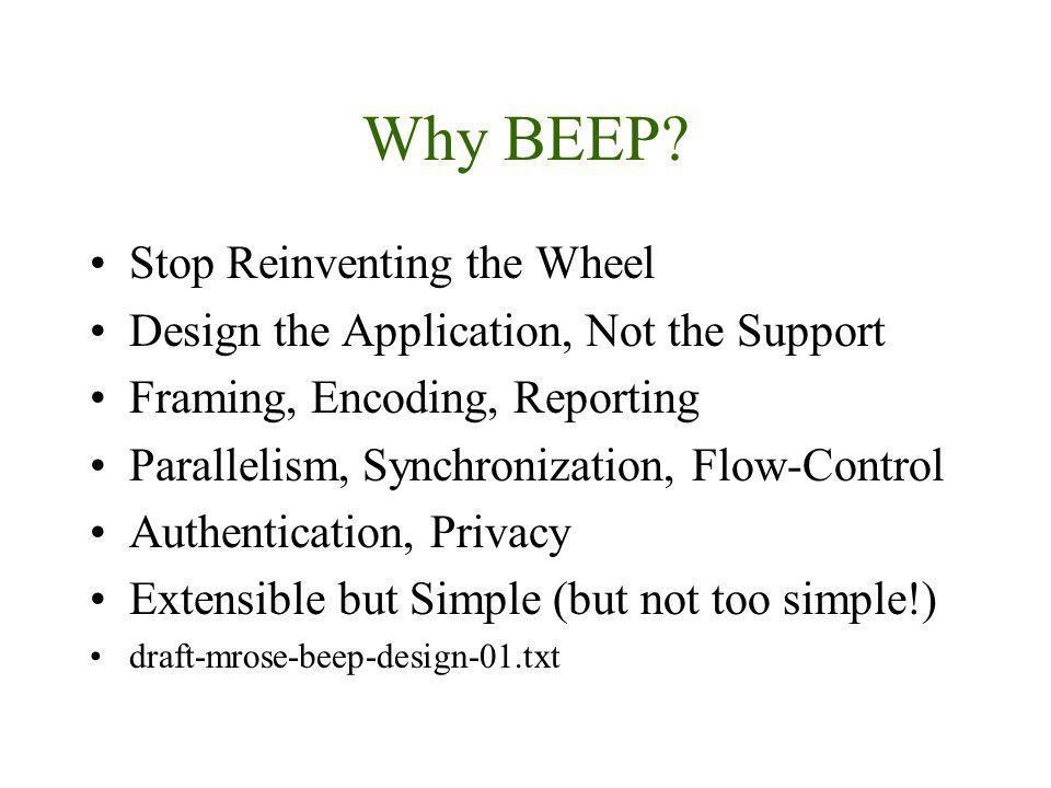Why BEEP.