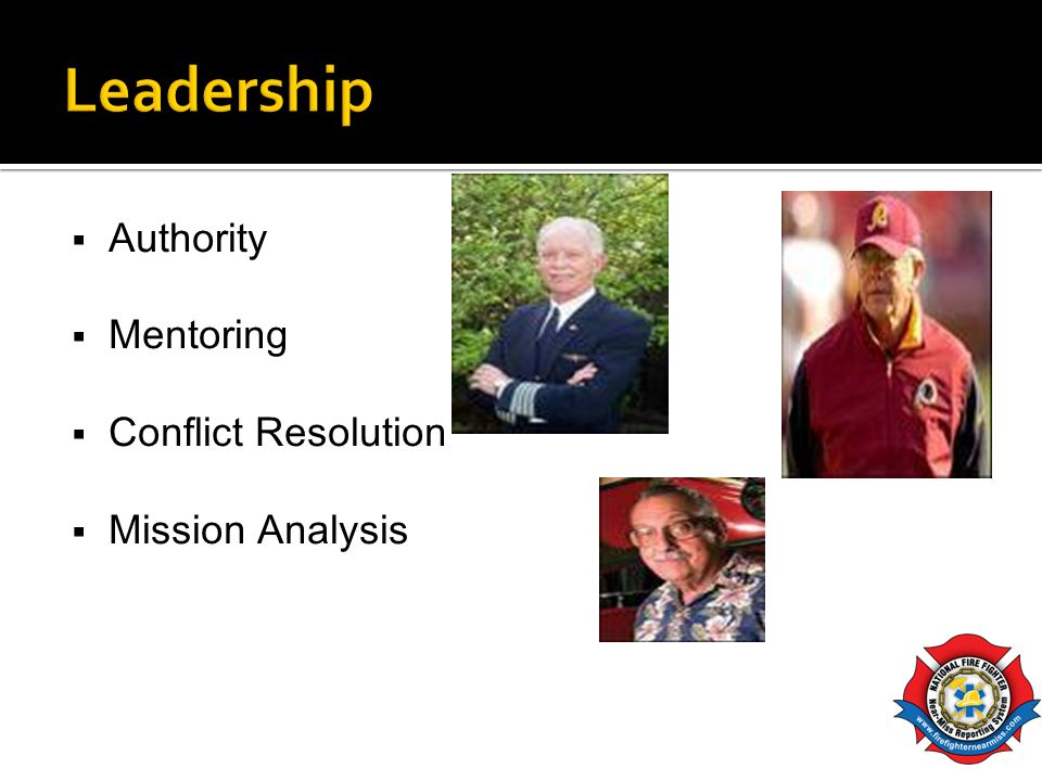 Authority Mentoring Conflict Resolution Mission Analysis
