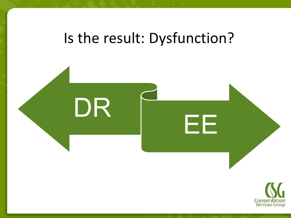 Is the result: Dysfunction? DR EE