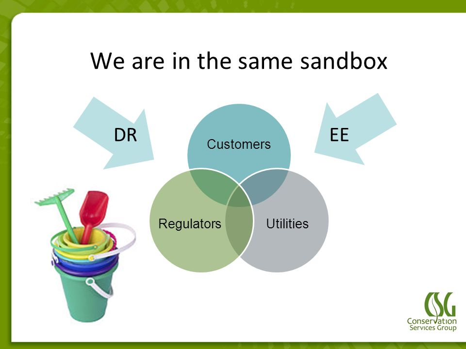 We are in the same sandbox Customers UtilitiesRegulators DR EE