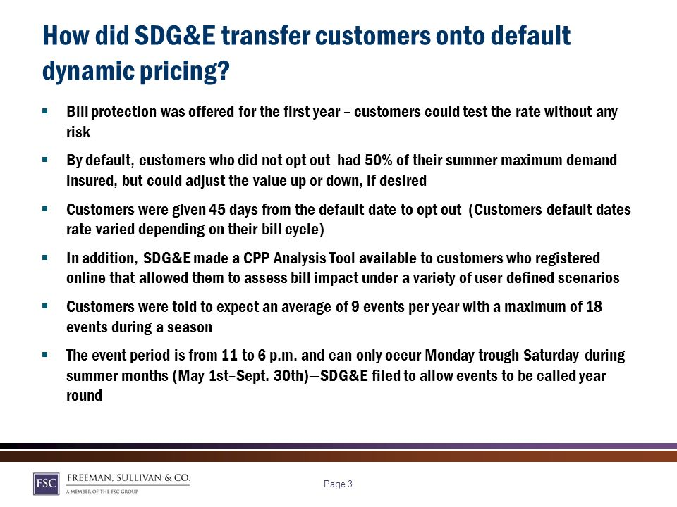 Page 2 Why do default or opt-out dynamic rates matter.