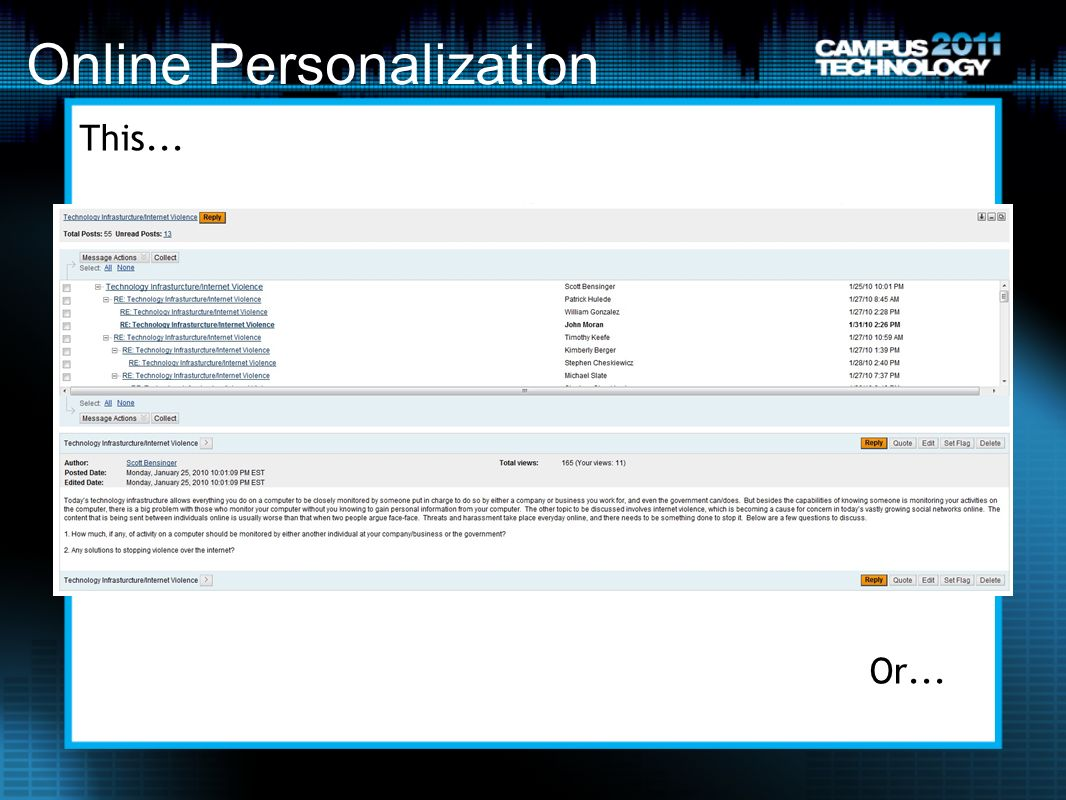 Online Personalization This... Or...