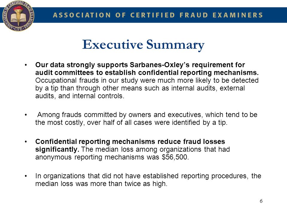 77 Detecting Occupational Fraud It is often these third parties who are in the best position to see characteristics of occupational fraud.