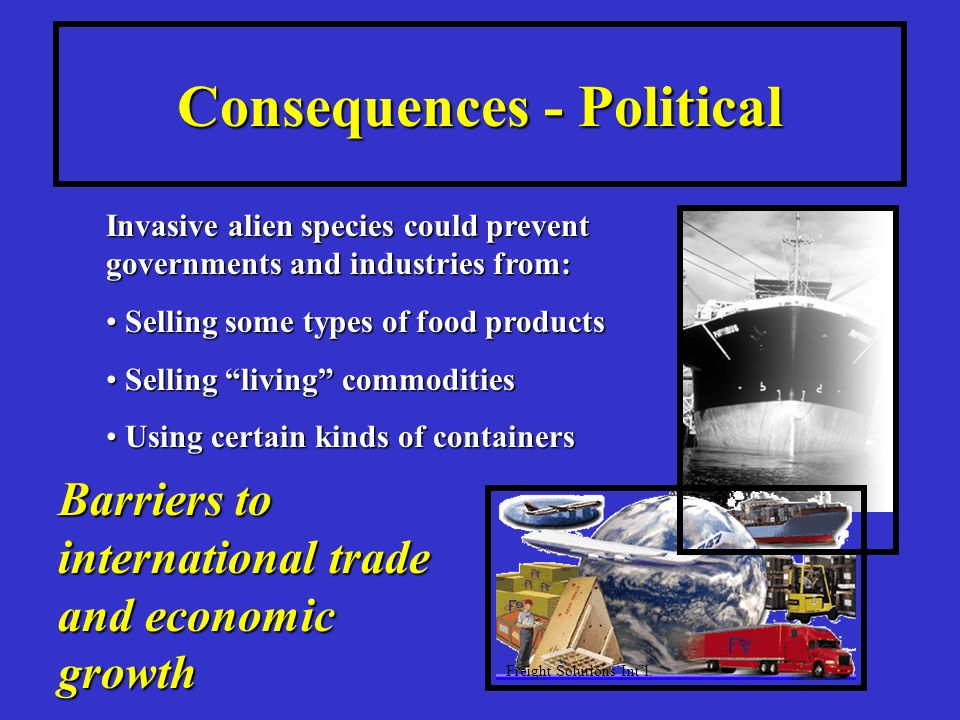 Consequences - Political Barriers to international trade and economic growth Freight Solutions Intl.