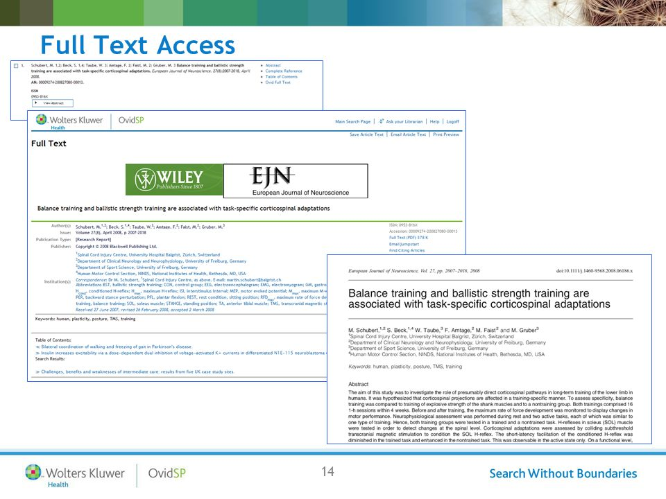 14 Full Text Access