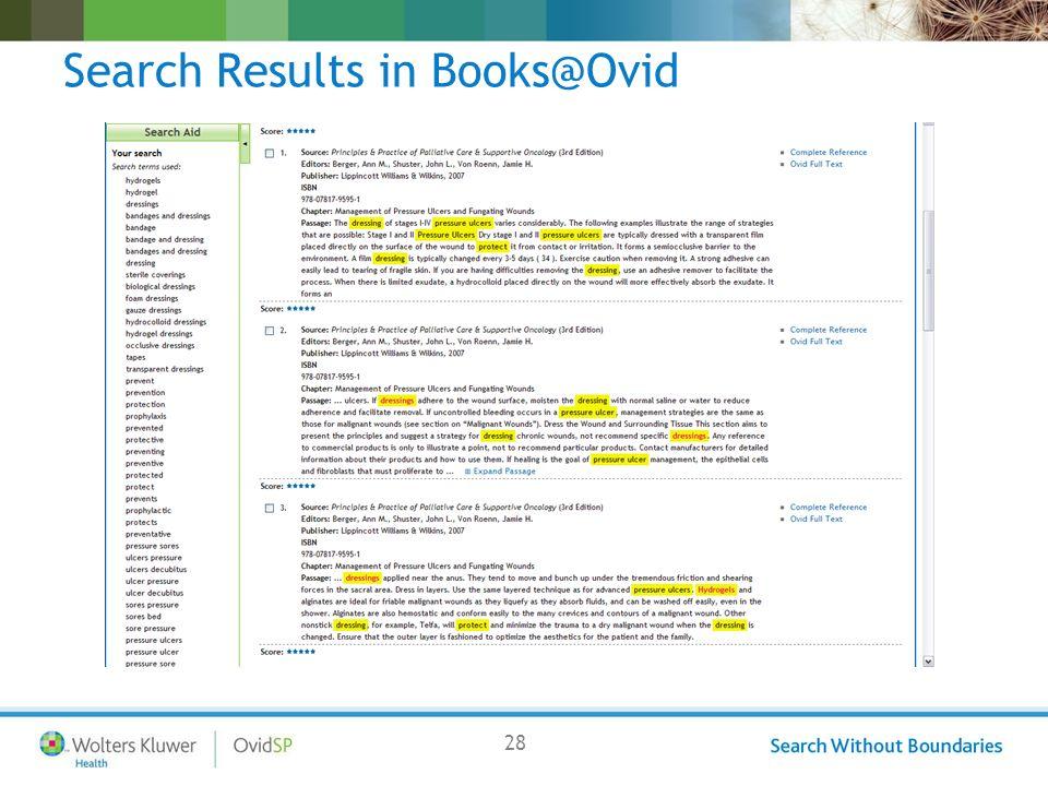 28 Search Results in Books@Ovid