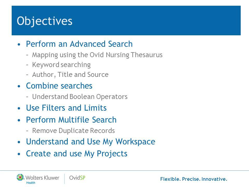 Flexible. Precise. Innovative. Performing a Multi-File Search
