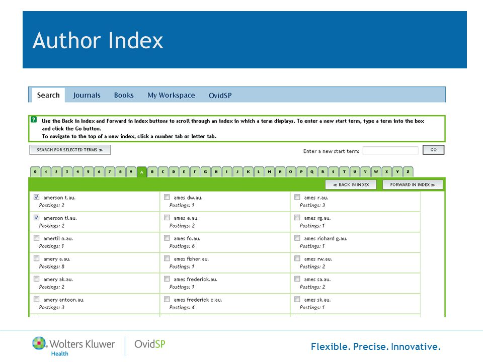 Flexible. Precise. Innovative. Author Index