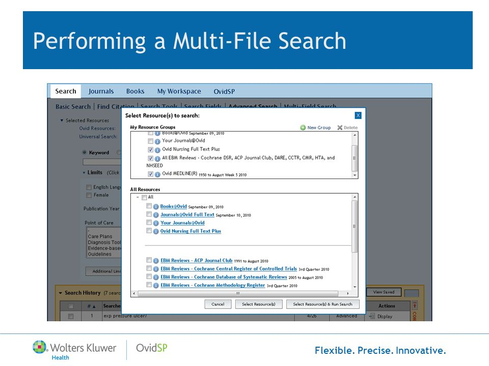 Flexible. Precise. Innovative. Performing a Multi-File Search