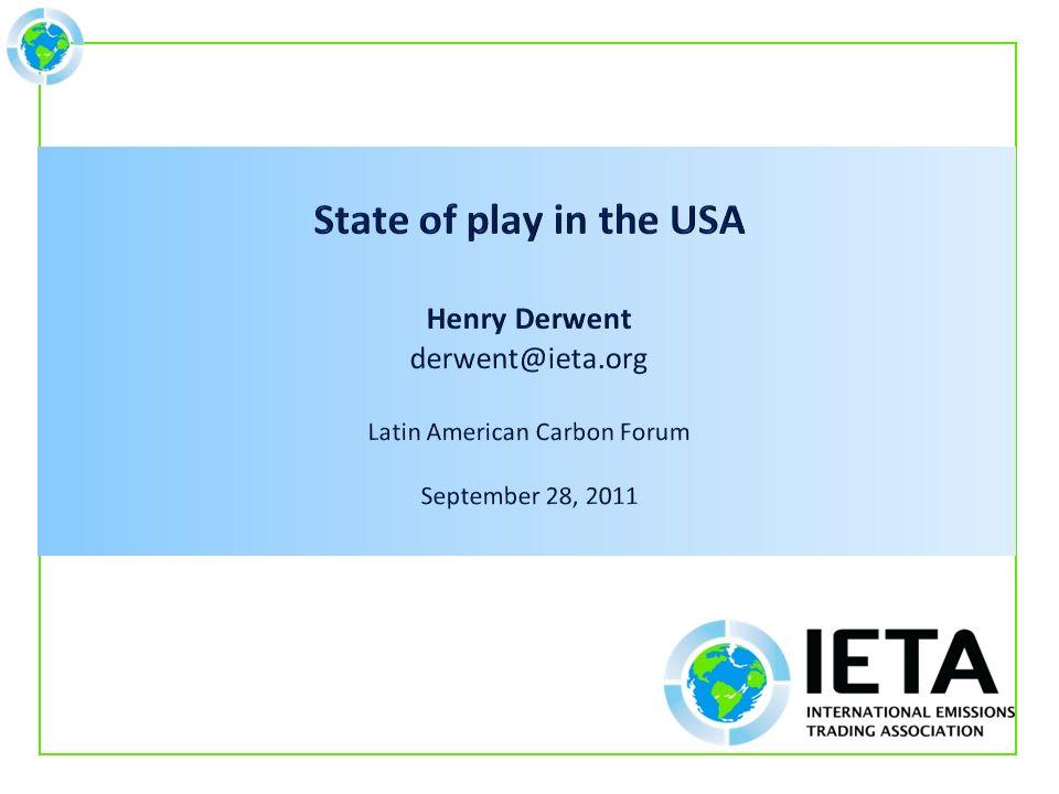 Contact: Henry Derwent derwent@ieta.org