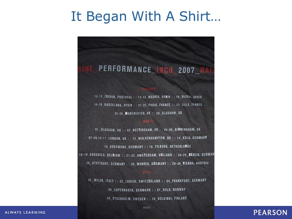 It Began With A Shirt…