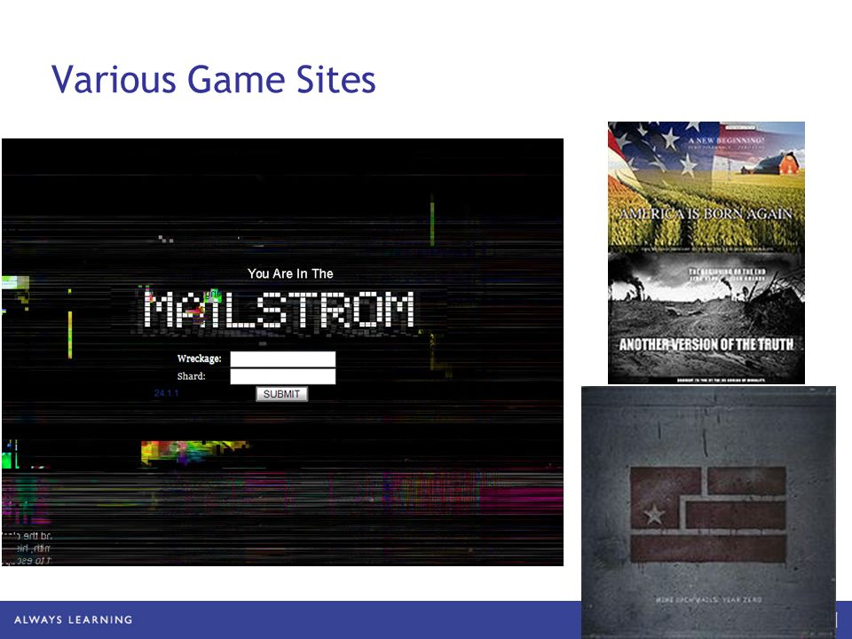 Various Game Sites