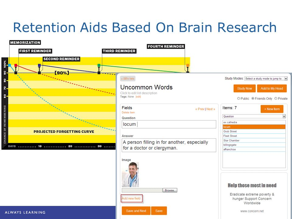 Retention Aids Based On Brain Research