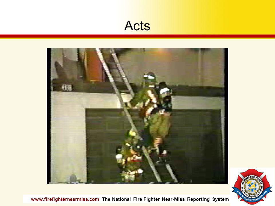 www.firefighternearmiss.com The National Fire Fighter Near-Miss Reporting System Acts
