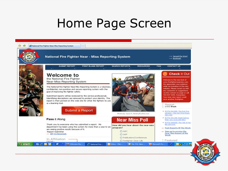 Home Page Screen