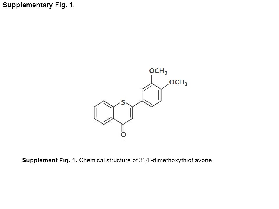 O Supplementary Fig. 1. Supplement Fig. 1. Chemical structure of 3,4-dimethoxythioflavone.
