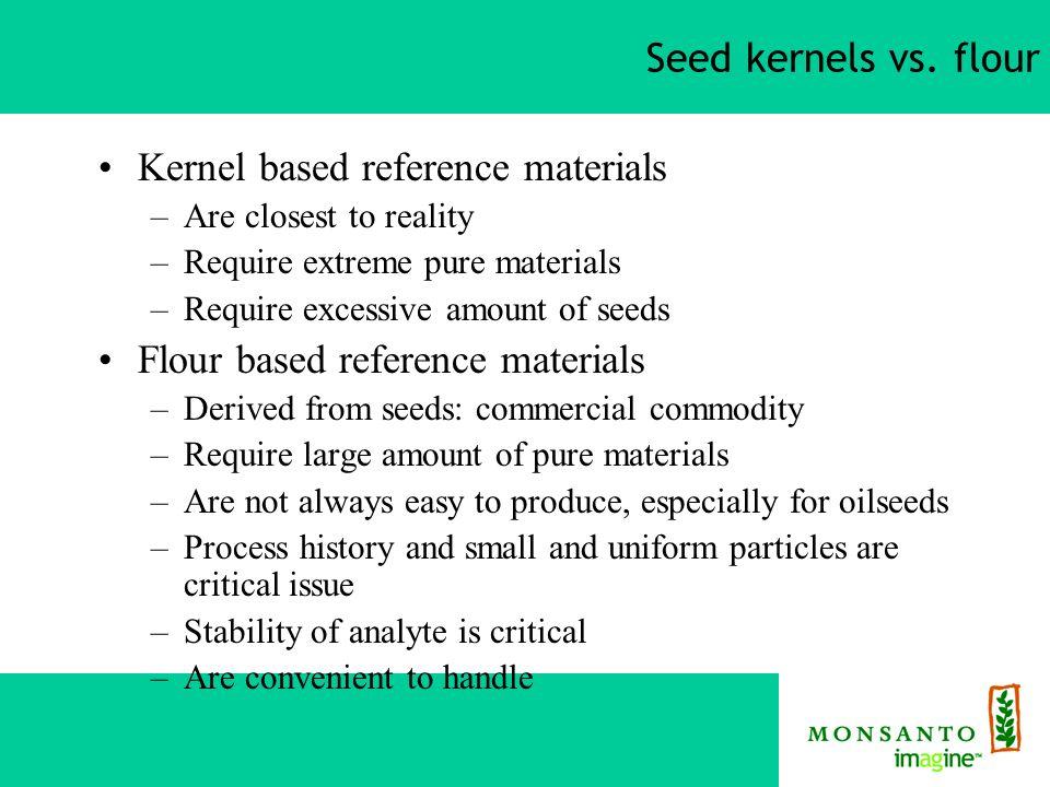Seed kernels vs.