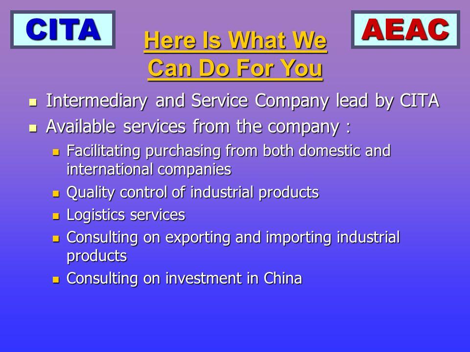 CITAAEAC Companys Organization CITA AEAC Expert Committee Suppliers Committee