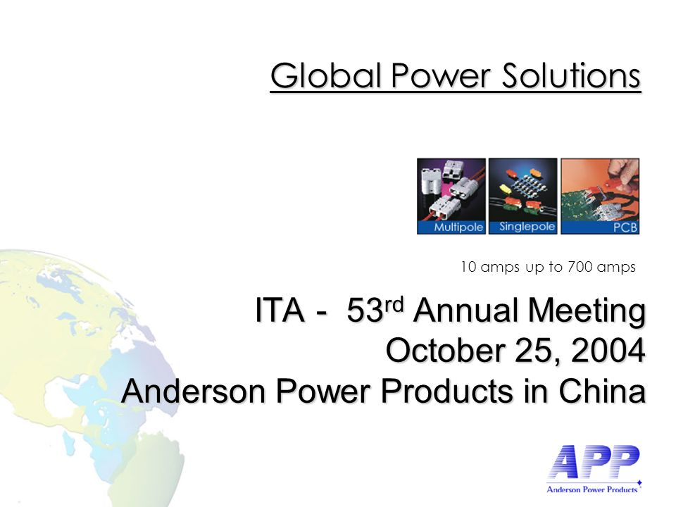 Copyright© 2002 Anderson Power Products.