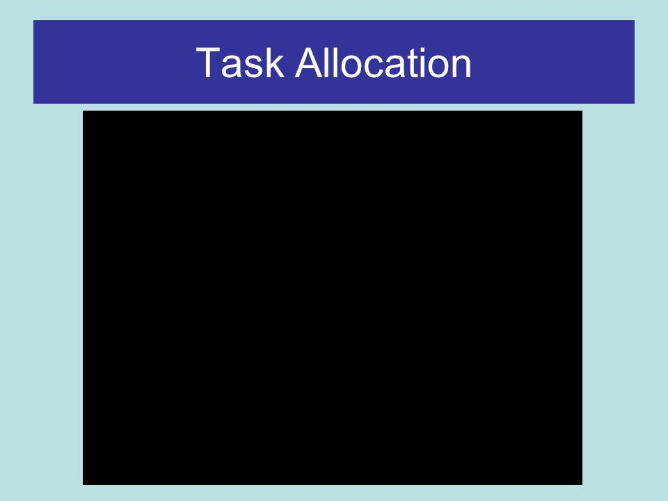 Task Allocation