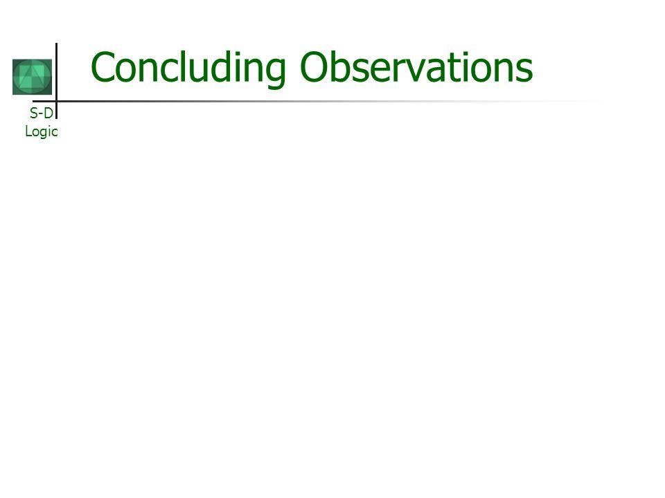 S-D Logic Concluding Observations