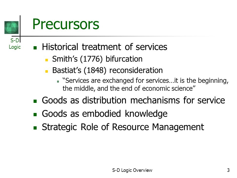 S-D Logic 14 Foundational Premises (3) FP7.The enterprise can only make value propositions.