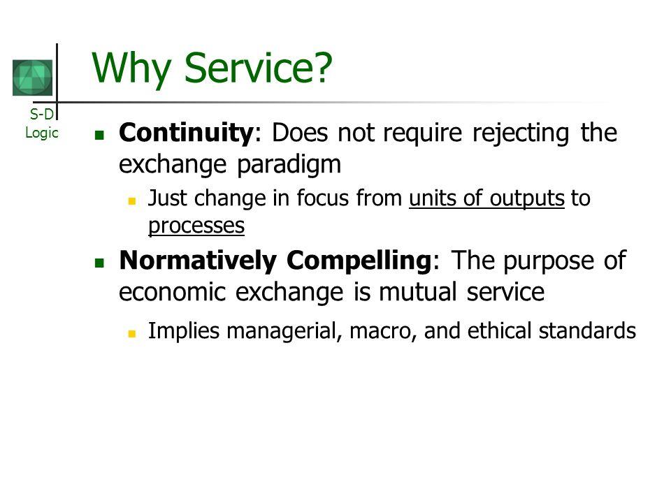 S-D Logic Why Service.