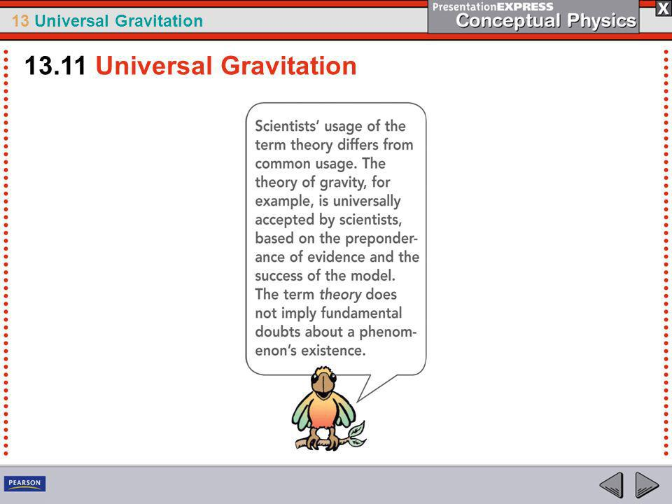 13 Universal Gravitation Newtons Impact on Science Few theories have affected science and civilization as much as Newtons theory of gravity.