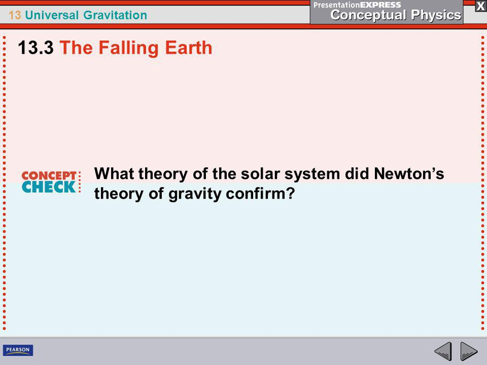 13 Universal Gravitation Newton discovered that gravity is universal.