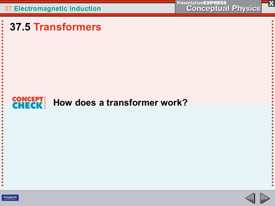 37 Electromagnetic Induction How does a transformer work? 37.5 Transformers