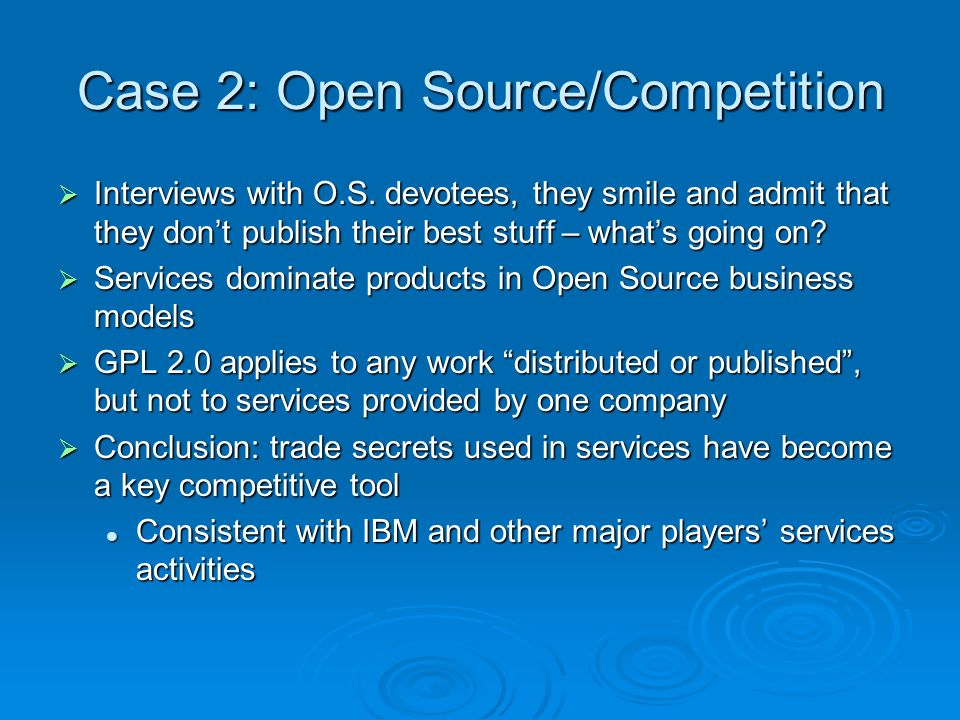 Case 2: Open Source/Competition Interviews with O.S.