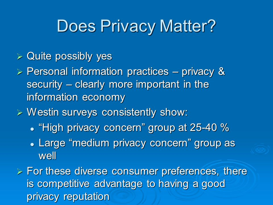 Does Privacy Matter.